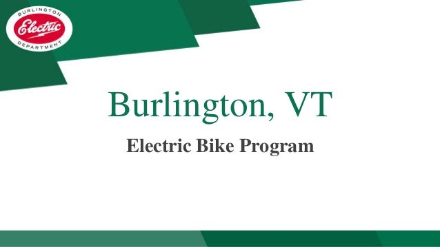 Burlington, VT Electric Bike Program