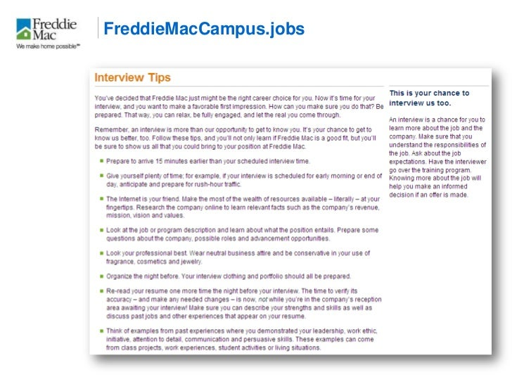 Best Practices for Campus Recruitment: A Case Study of Freddie Mac