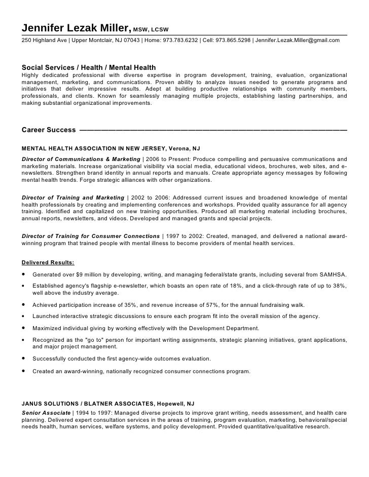 Lmsw Resume Sample Resume Ideas