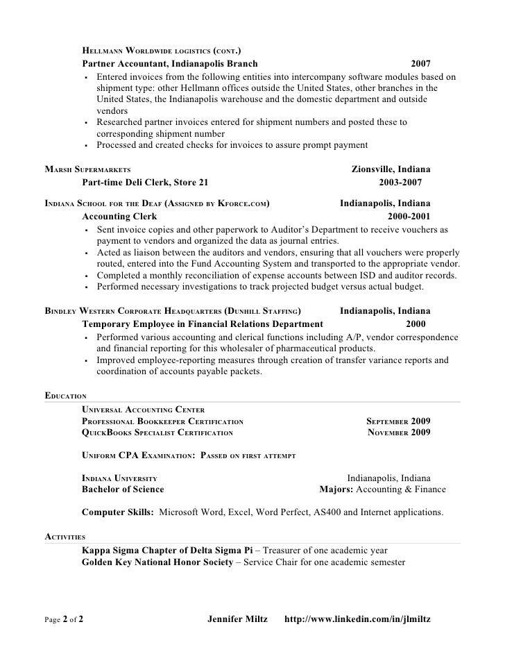 Hedge Fund Accounting Resume