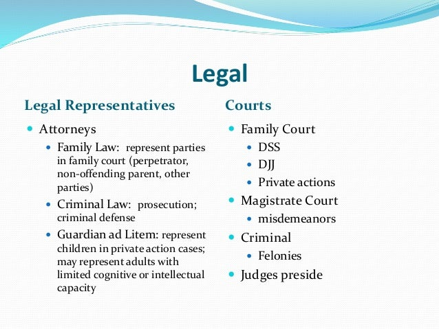 Legal Issues in Child Abuse and Neglect Cases