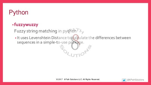 Python Fuzzywuzzy