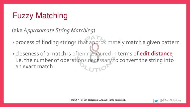 Fuzzy Matching to the Rescue