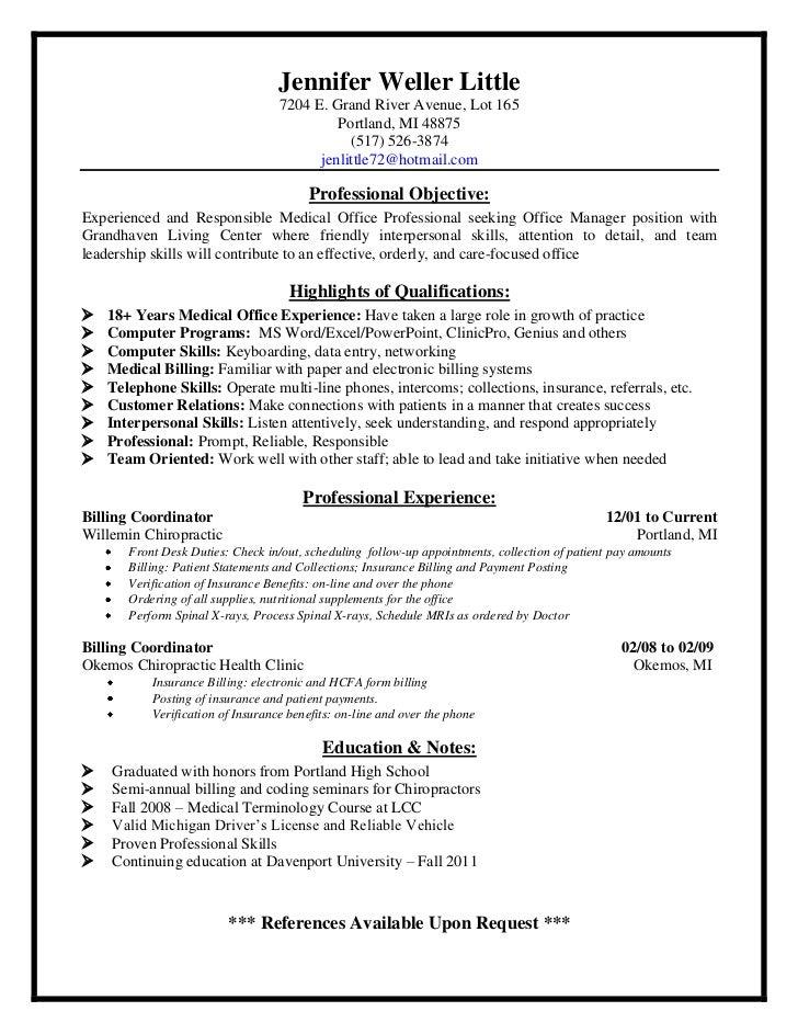 Jen's 2011 resume