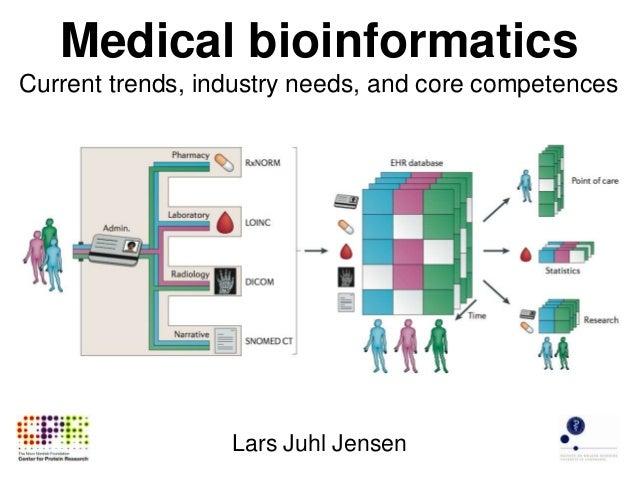 Medical bioinformatics Current trends, industry needs, and core competences Lars Juhl Jensen