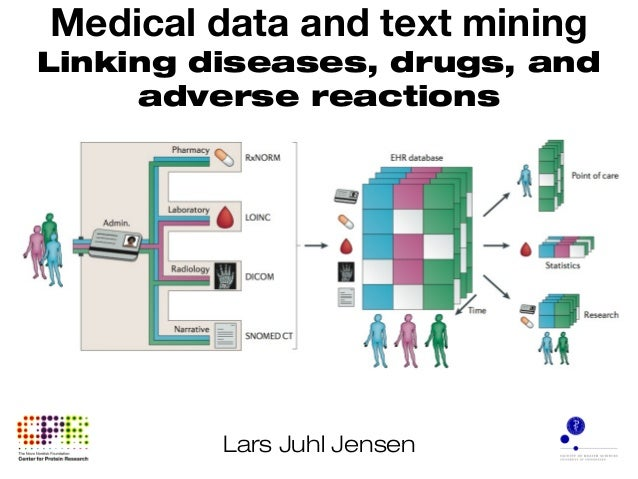 Medical data and text mining Linking diseases, drugs, and adverse reactions Lars Juhl Jensen