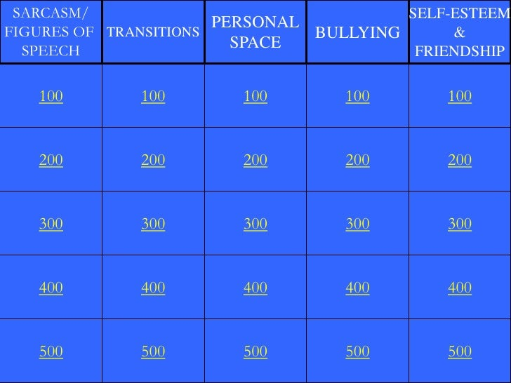 SARCASM/                                  SELF-ESTEEM                       PERSONALFIGURES OF TRANSITIONS            BULL...