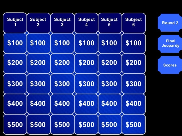 jeopardy really good template, Powerpoint templates