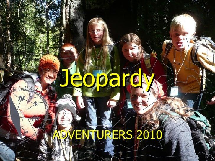 Jeopardy ADVENTURERS 2010