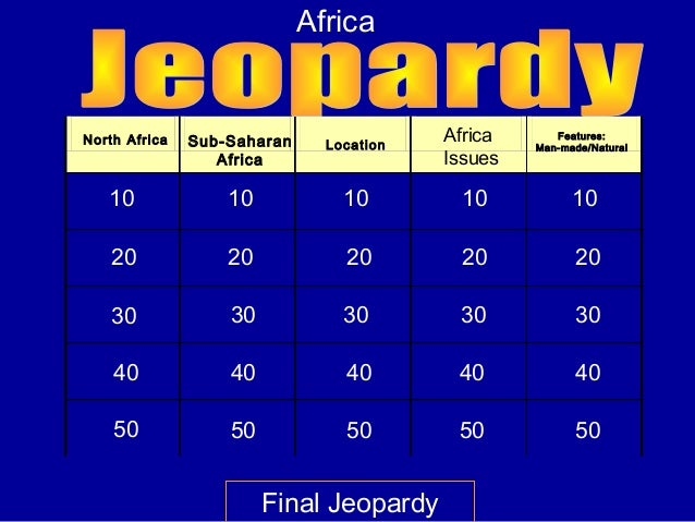 AfricaNorth Africa   Sub-Saharan     Location                                          Africa      Features:              ...