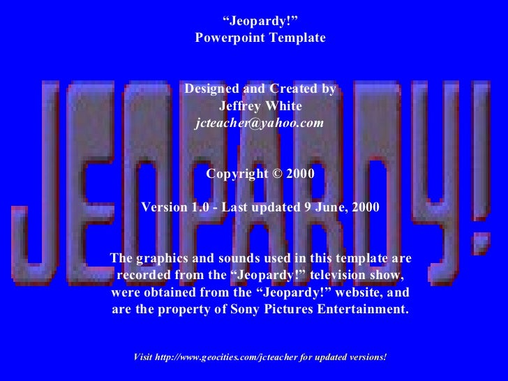 Jeopardy For History Of Africa