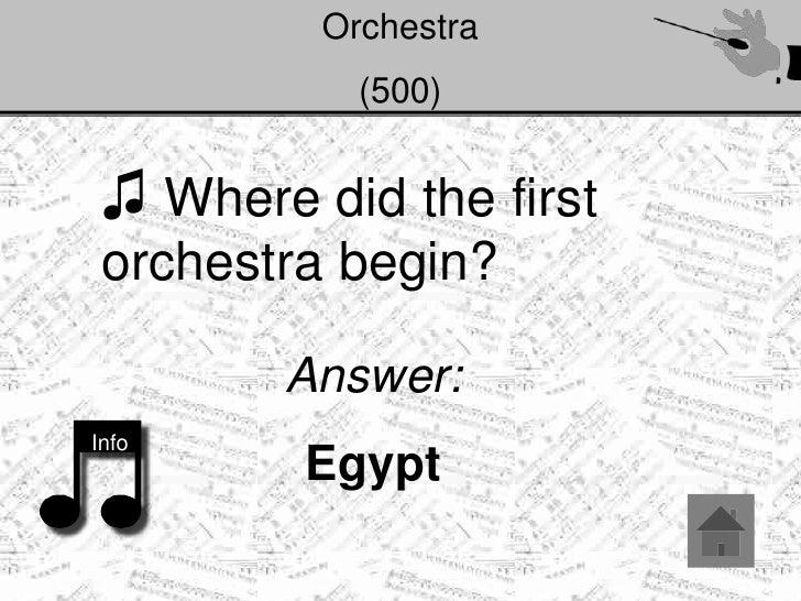 Jeopardy orchestra