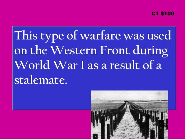 How did the the Western Front become a stalemate in World War I?