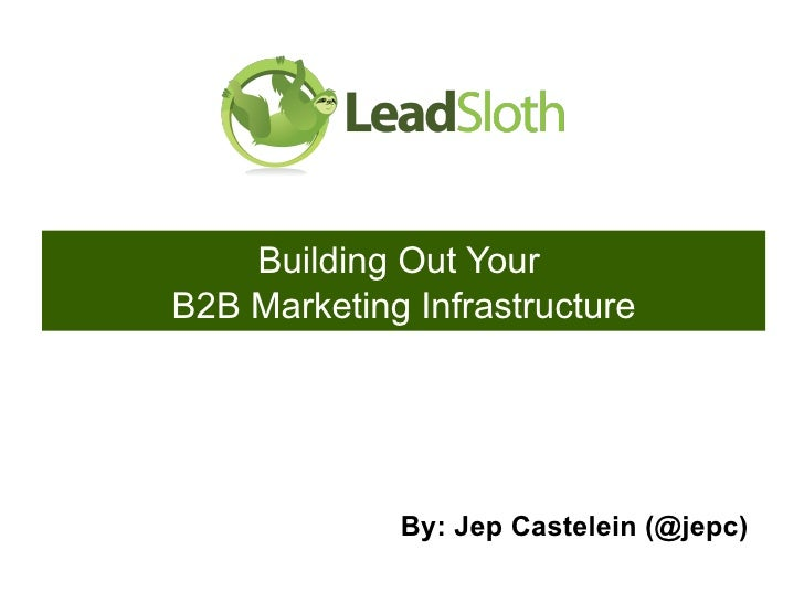 Building Out Your  B2B Marketing Infrastructure By: Jep Castelein (@jepc)