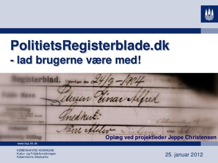 Jeppe christensen - præsentation lff den 25. januar