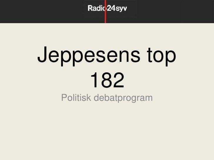 Jeppesens top    182  Politisk debatprogram