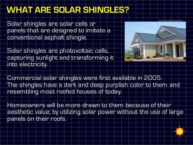 Solar Shingles Aesthetic Power – Solar Cell Roof Shingles