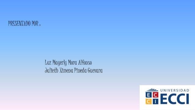 PRESENTADO POR : Luz Mayerly Mora Alfonso Julieth Ximena Pineda Guevara