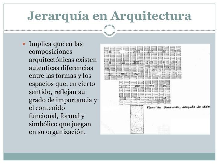 Jerarquia final for Arquitectura definicion