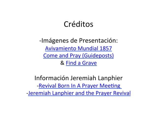 Jeremiah Lanphier - Avivamiento a través de la Oración