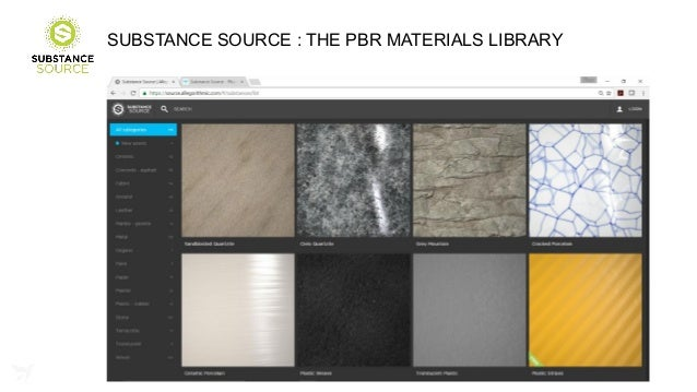 Substance PBR Materials Workflow for Real-Time Rendering - Unite LA