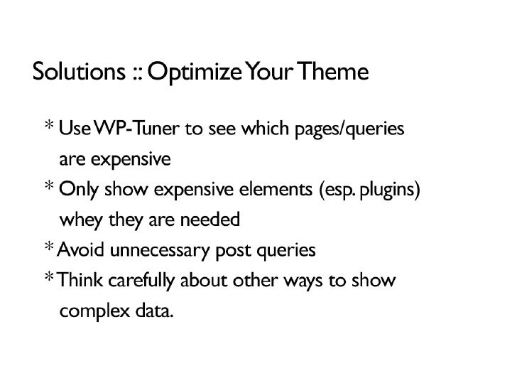 Caching and Optimization for WordPress slideshare - 웹
