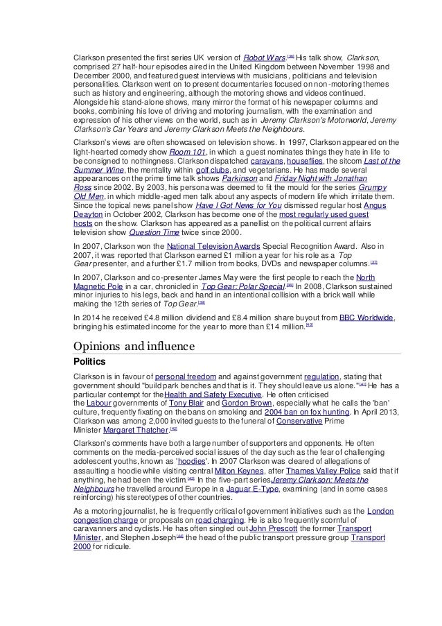 jeremy clarkson bibliography