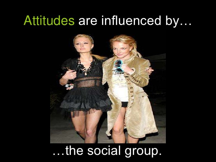 Attitudes are influenced by…<br />…the social group.<br />