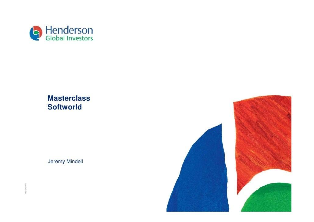 Masterclass             Softworld                 Jeremy Mindell Reference