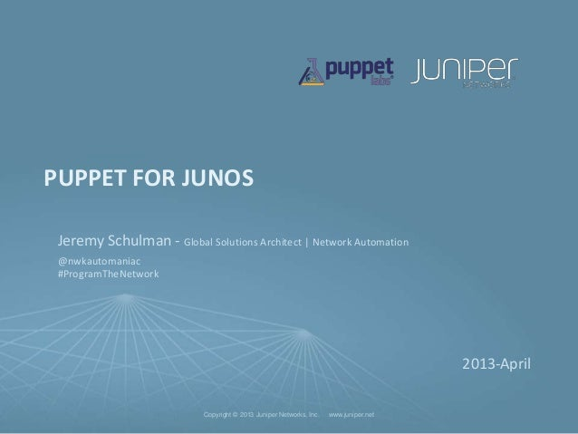 Puppet for Junos