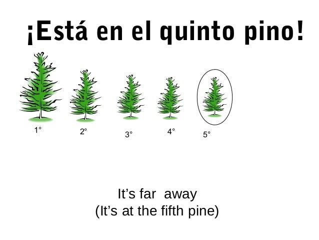 ¡Está en el quinto pino! It's far away (It's at the fifth pine) 5°3° 1° 2° 4°