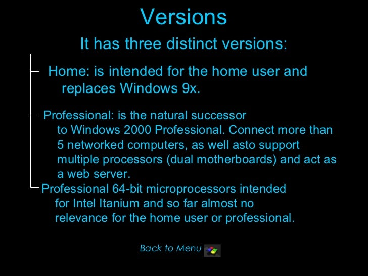 Slideshow About Windows Xp And Features