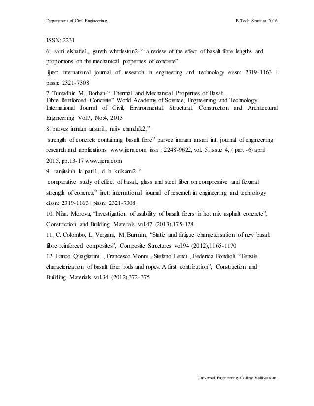basalt rock fibre seminar report pdf