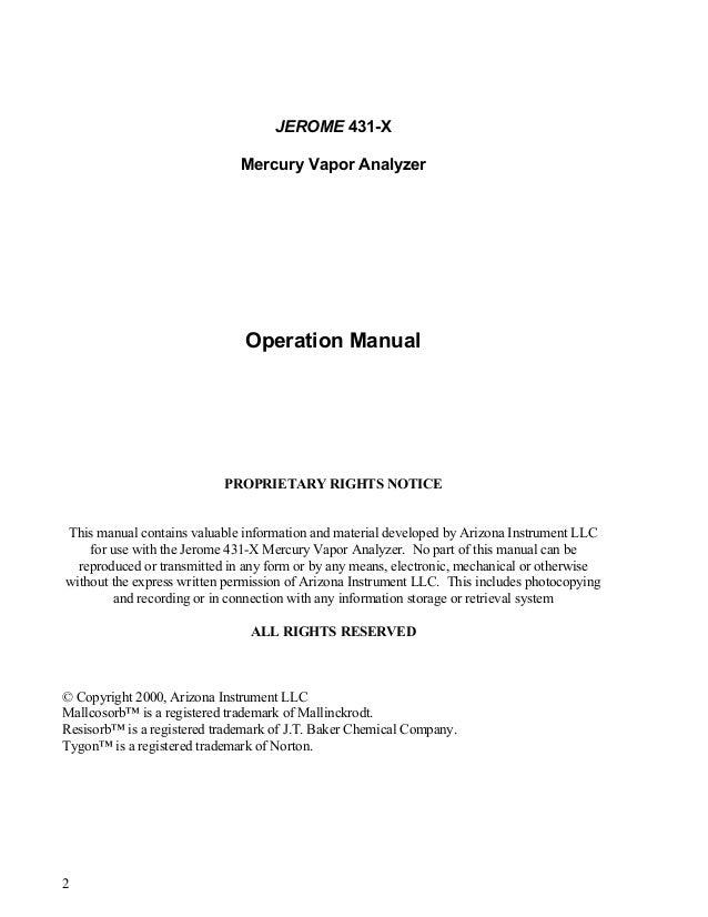 Jerome 431 manual Slide 2