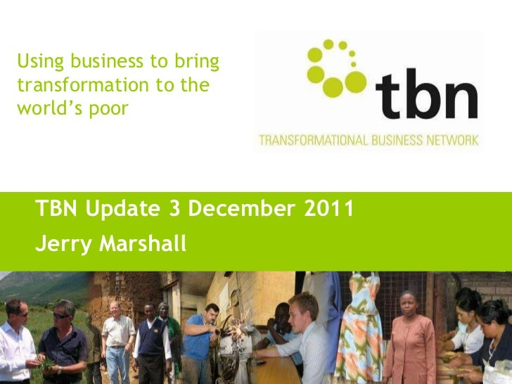 TBN Update 3 December 2011 Jerry Marshall