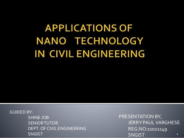 nano technology in civil engineering