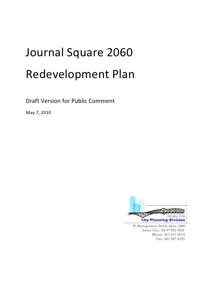 Jersey City Real Estate 2060 Redevelopment Plan for Journal Square