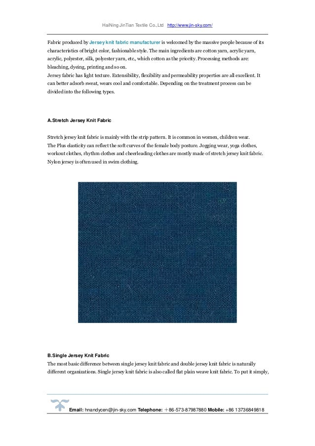 343c7b52973 4, Jersey Knit Fabric Types; 5.