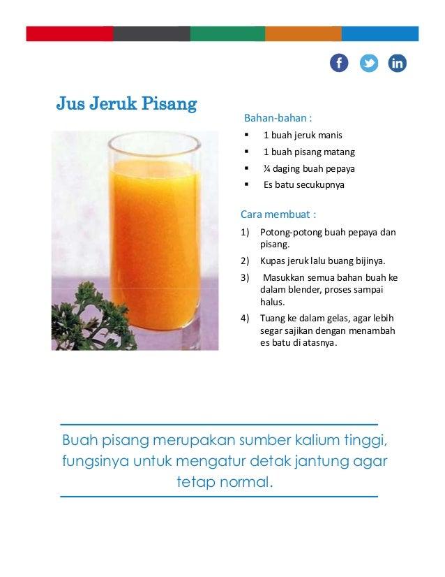 Resep Membuat Jus Jeruk Campur Pisang