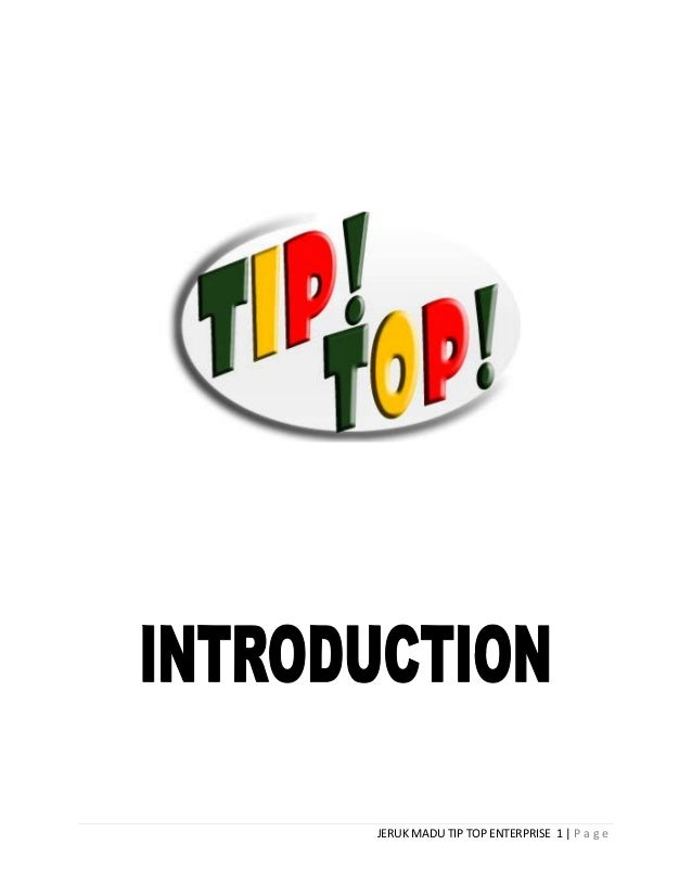 JERUK MADU TIP TOP ENTERPRISE 1 | P a g e