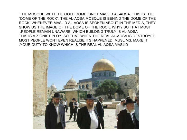 Jerusalem - What the Zionists Are Doing… And Do You Know Why?