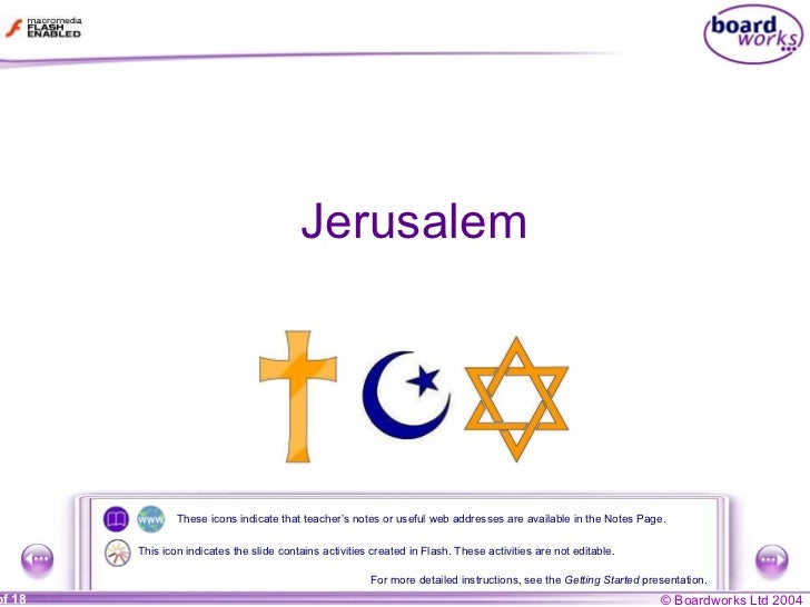 Jerusalem These icons indicate that teacher's notes or useful web addresses are available in the Notes Page. For more deta...