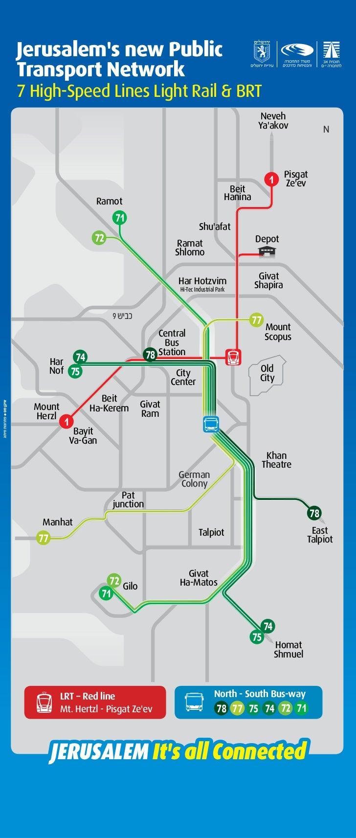 Jerusalem public transport map