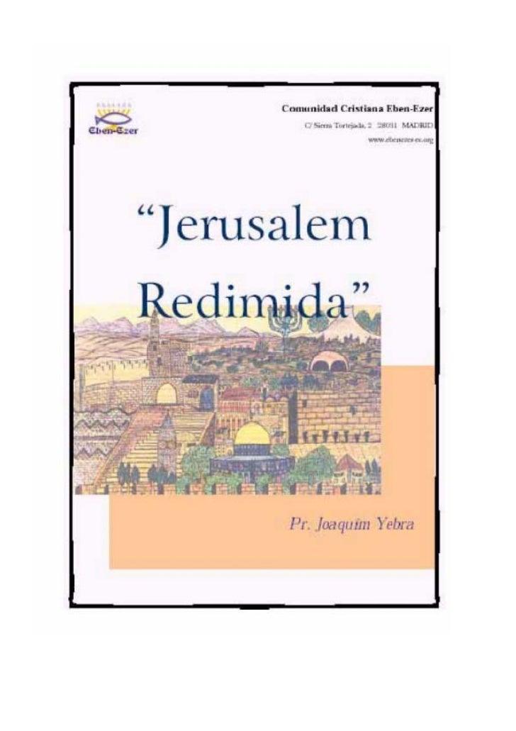 Jerusalem Redimida                                                                          Joaquín Yebra                 ...