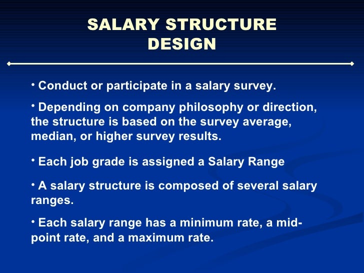 effect of market on pay rates and structures How often should an organization update its salary structures  the company  and smaller jumps for lower-level jobs where promotions may not have so much  effect  the pay range for each job is tied to the market pay rate.