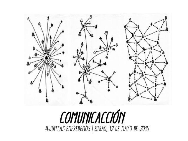 COMUNICACCIÓN#JUNTAS EMPREDEMOS | bilbao, 12 de mayO de 2015