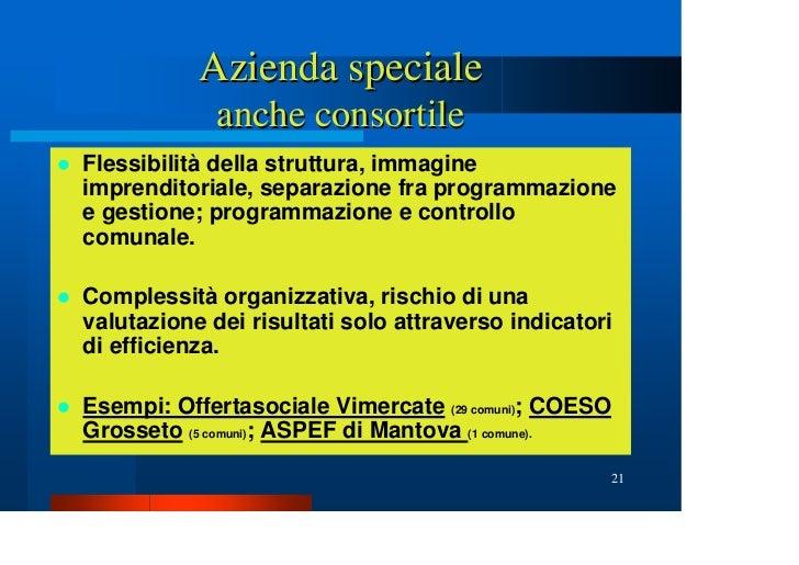 Le forme di gestione associata dei servizi sociali for Programmazione e gestione dei servizi educativi