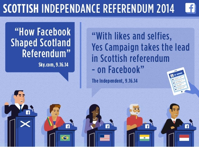 "SCOTTISH INDEPENDANCE REFERENDUM 2014 ""How Facebook Shaped Scotland Referendum"" Sky.com, 9.16.14 ""With likes and selfies, ..."