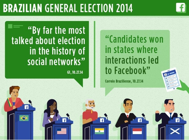 """BRAZILIAN GENERAL ELECTION 2014 """"By far the most talked about election in the history of social networks"""" """"Candidates won ..."""