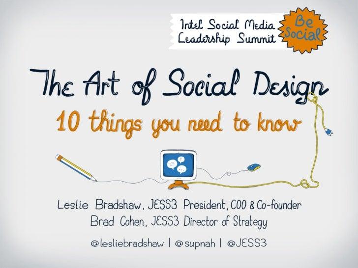 The Art of Social Design